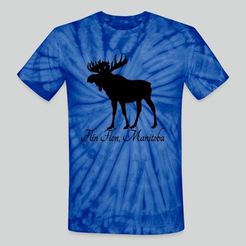 MOOSE Tie Dye T-Shirt (Black Print) *Multiple Colorways* - Unisex Tie Dye T-Shirt