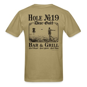 Hole 19 Disc Golf Bar & Grill - Black Print - Men's Shirt - Men's T-Shirt