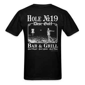 Hole 19 Disc Golf Bar & Grill - White Print - Men's Shirt - Men's T-Shirt