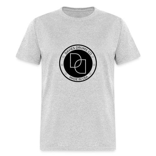 Men's Davies Drums Standard T-shirt Black Logo - Men's T-Shirt