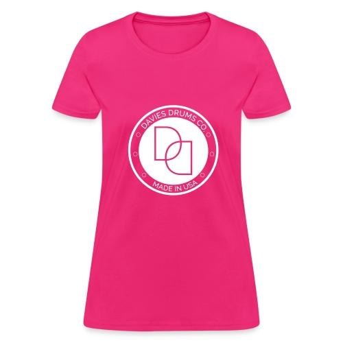 Women's Davies Drums Standard T-shirt White Logo - Women's T-Shirt