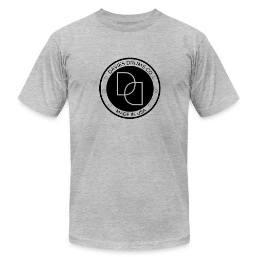 American Apparel Men's Davies Drums Co. T-Shirt Black Logo - Men's Fine Jersey T-Shirt