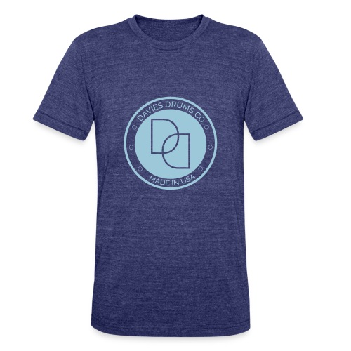 Davies Drums Co. Unisex Tri-Blend T-shirt Light Blue Logo - Unisex Tri-Blend T-Shirt