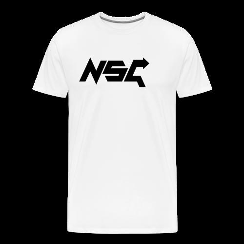 #NonStopGaming Tee (White) - Men's Premium T-Shirt
