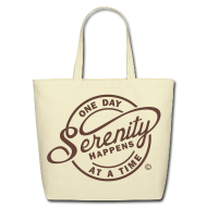 Bags & backpacks ~ Eco-Friendly Cotton Tote ~ Serenity Happens - One Day At A Time
