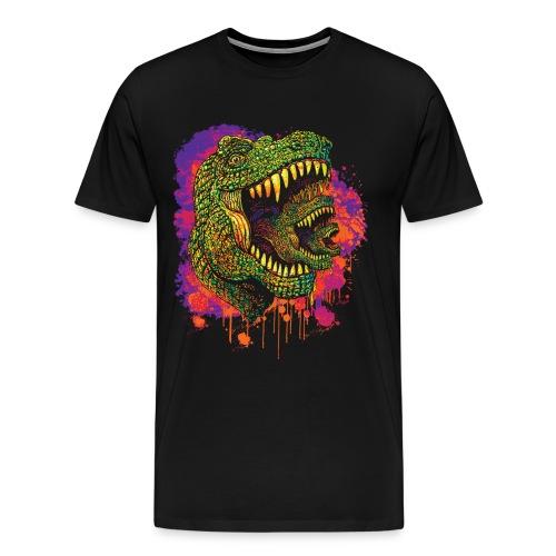 Tyrannosaur T Rex Cubed - Men's Premium T-Shirt