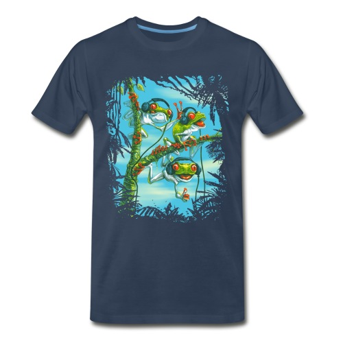 Tree Frog Trio Chillin' - Men's Premium T-Shirt