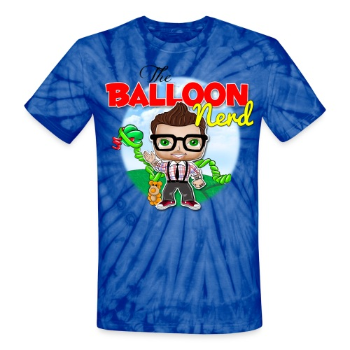 Mens Balloon Nerd - Unisex Tie Dye T-Shirt