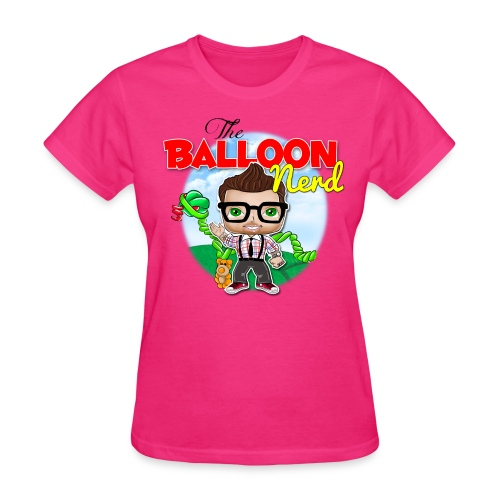 Womens Balloon Nerd - Women's T-Shirt