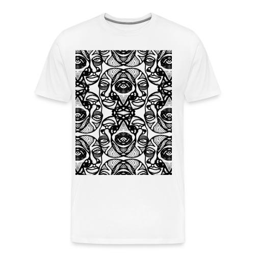 Masks 8 [white only] - Men's Premium T-Shirt