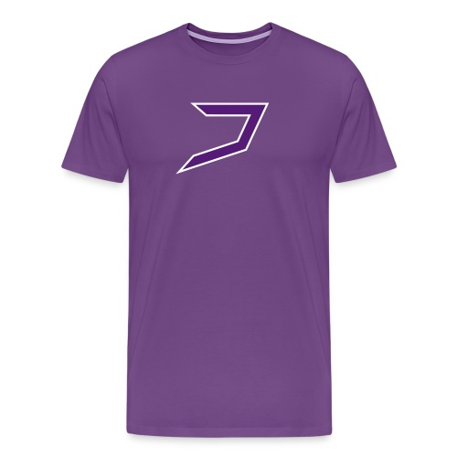 Purple/White Jayzoh - Men's Premium T-Shirt