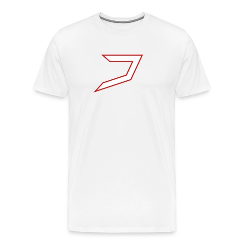 White/Red Jayzoh - Men's Premium T-Shirt