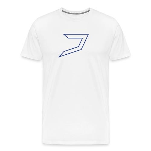 White/Blue Jayzoh - Men's Premium T-Shirt
