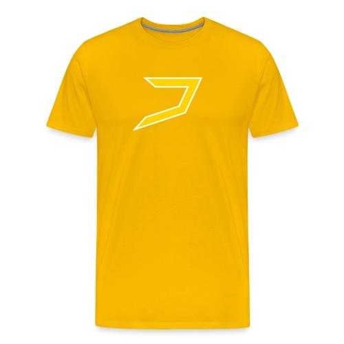 Yellow/White Jayzoh - Men's Premium T-Shirt