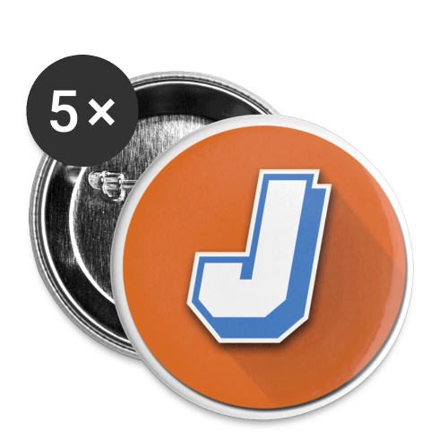 Jman100 Logo Buttons 5pc - Large Buttons