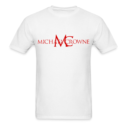 Signature Michael Crowne - White & Red - Men's T-Shirt