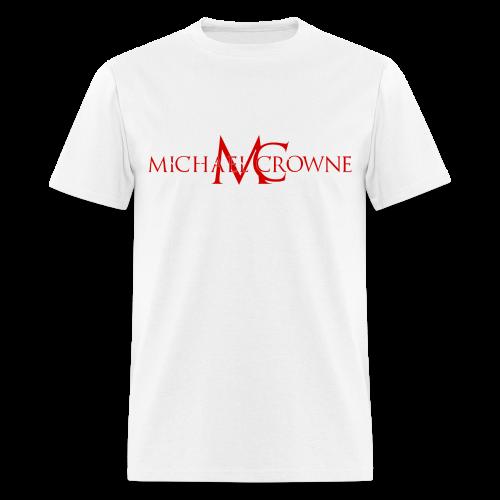 Signature Michael Crowne - White & Red - Men's T-Shirt