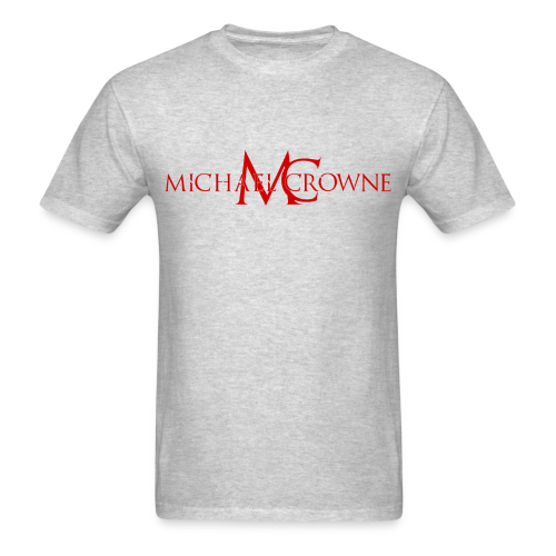 Signature Michael Crowne - Grey & Red - Men's T-Shirt