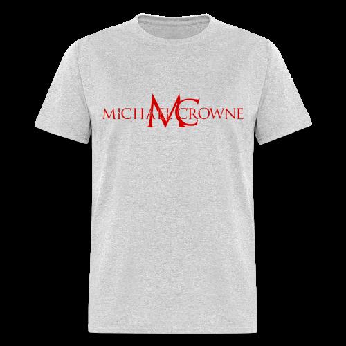 Signature Michael Crowne - Grey & Red - Men's T-Shirt