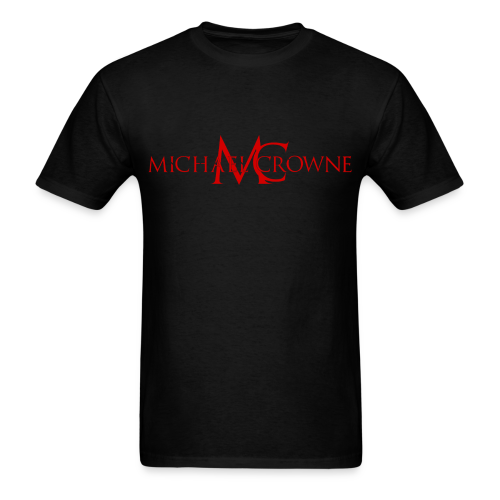 Signature Michael Crowne - Black & Red - Men's T-Shirt
