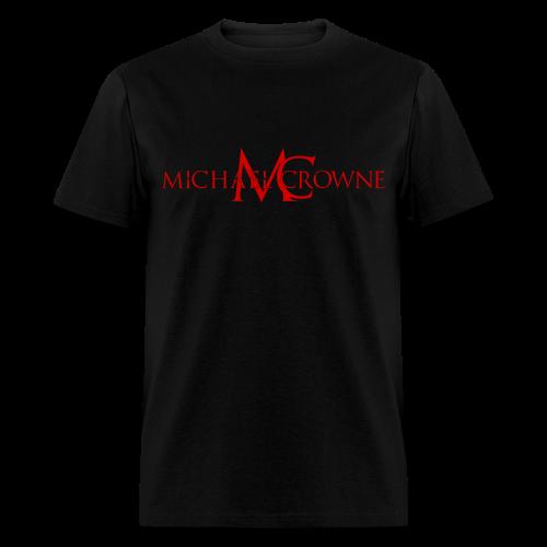 Signature Michael Crowne - Black & Red - Men's T-Shirt
