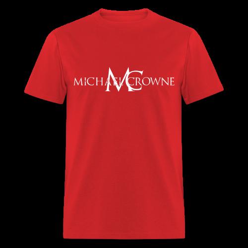 Signature Michael Crowne - Red & White - Men's T-Shirt