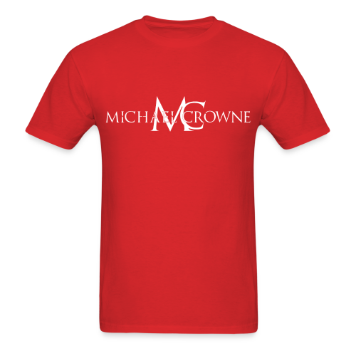 Signature Michael Crowne - Red & White - Men's T-Shirt