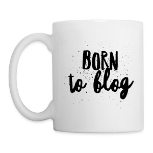 Born to Blog White Mug - Coffee/Tea Mug