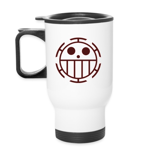 Travel Mug - Unlike many other pirates from the North Blue, the Heart Pirates do not use a skull and crossbones, but a smiley face instead