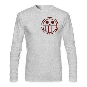 Men's Long Sleeve T-Shirt by Next Level - Unlike many other pirates from the North Blue, the Heart Pirates do not use a skull and crossbones, but a smiley face instead