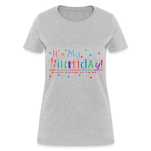 Women's Happy Birthday T-Shirt - Gray - Women's T-Shirt