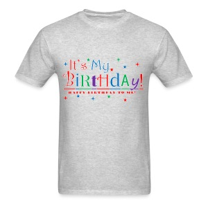 Men's Happy Birthday T-Shirt - Gray - Men's T-Shirt