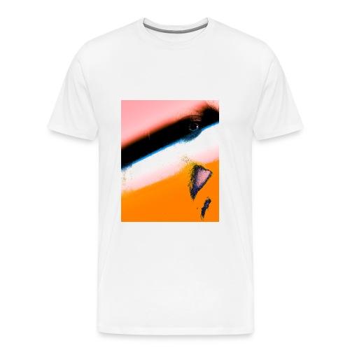 Glitched - M White Premium Tee - Men's Premium T-Shirt