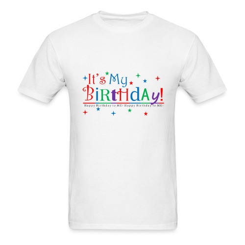 Men's Happy Birthday T-Shirt – White - Men's T-Shirt