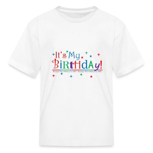 Kid's Happy Birthday T-Shirt – White - Kids' T-Shirt