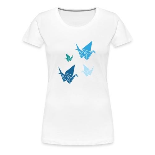 Origami Blue Birds Premium Women's Tee - Women's Premium T-Shirt