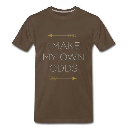 'I Make My Own Odds' Arrow Men's Tee - Men's Premium T-Shirt