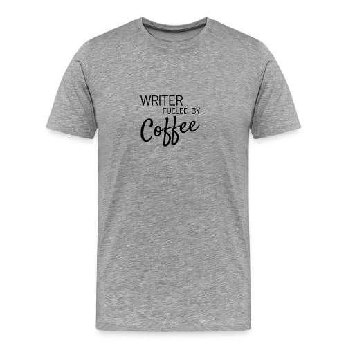 Writer Fueled by Coffee Premium Men's Tee - Men's Premium T-Shirt