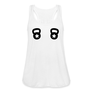 Double Kettlebell with a star - Women's Flowy Tank Top by Bella