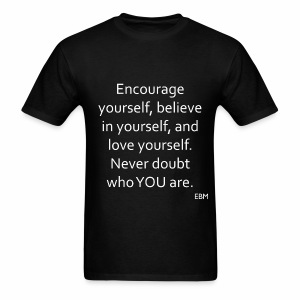 Empowered Black Male Tee With Quote - Men's T-Shirt