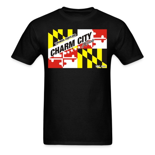 Adult Charm City Karate Flag tee - Men's T-Shirt