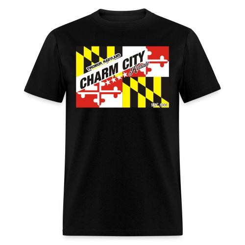 Adult Charm City Karate Flag tee - Men's T-Shirt
