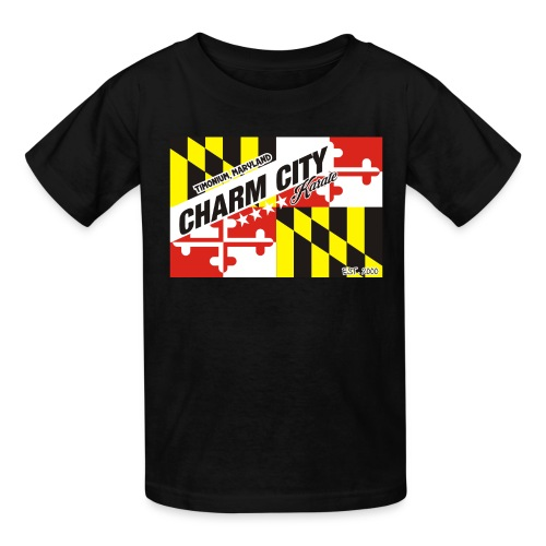 Kids Charm City Karate Flag tee - Kids' T-Shirt