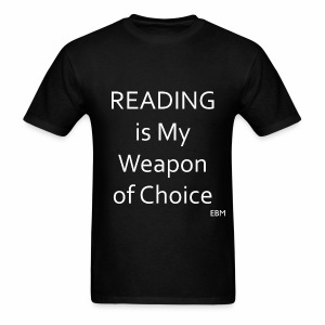 Empowered Black Male Tee: READING is My Weapon of Choice  - Men's T-Shirt