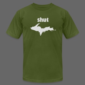 Shut U.P.  - Men's T-Shirt by American Apparel