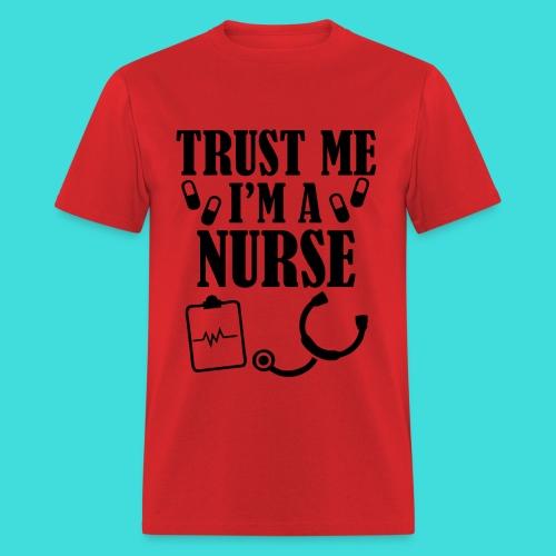 Red Male Nurse Trust Me Men's T-Shirt - Men's T-Shirt