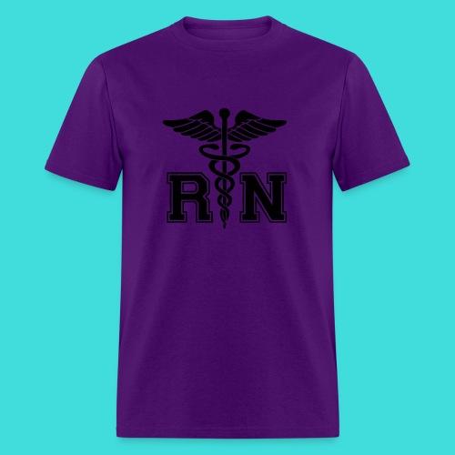 Purple RN Male Nurse Men's T-Shirt - Men's T-Shirt