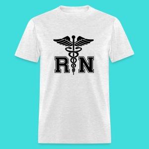 Grey RN Male Nurse Men's T-Shirt - Men's T-Shirt