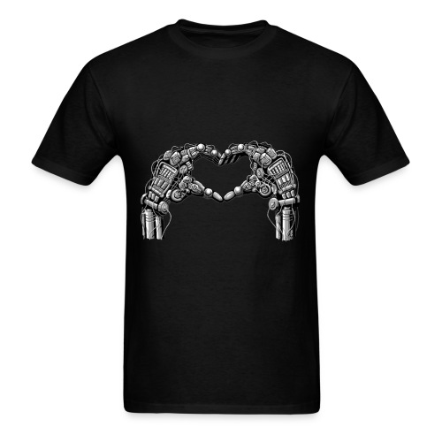 Robot hands make heart shape - Men's T-Shirt