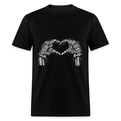 Robot hands make heart shape - Men's T-Shirt